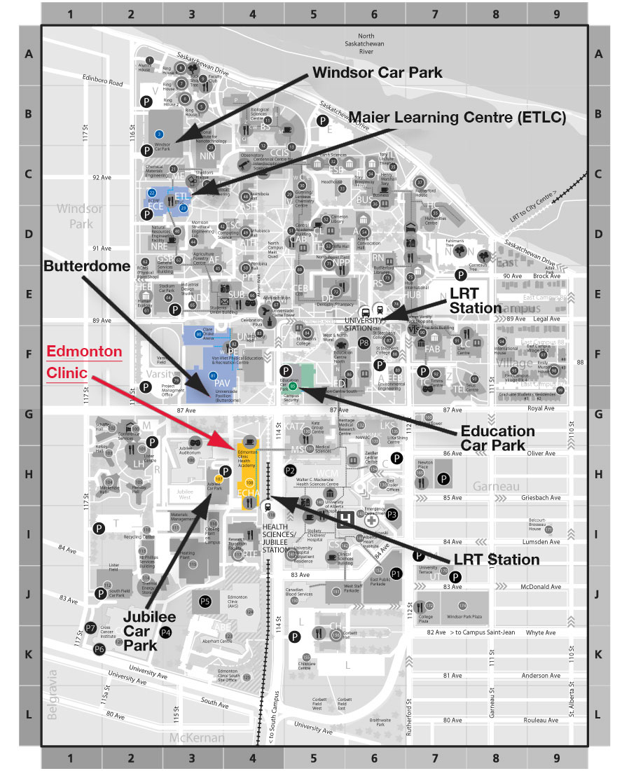 U of A Map
