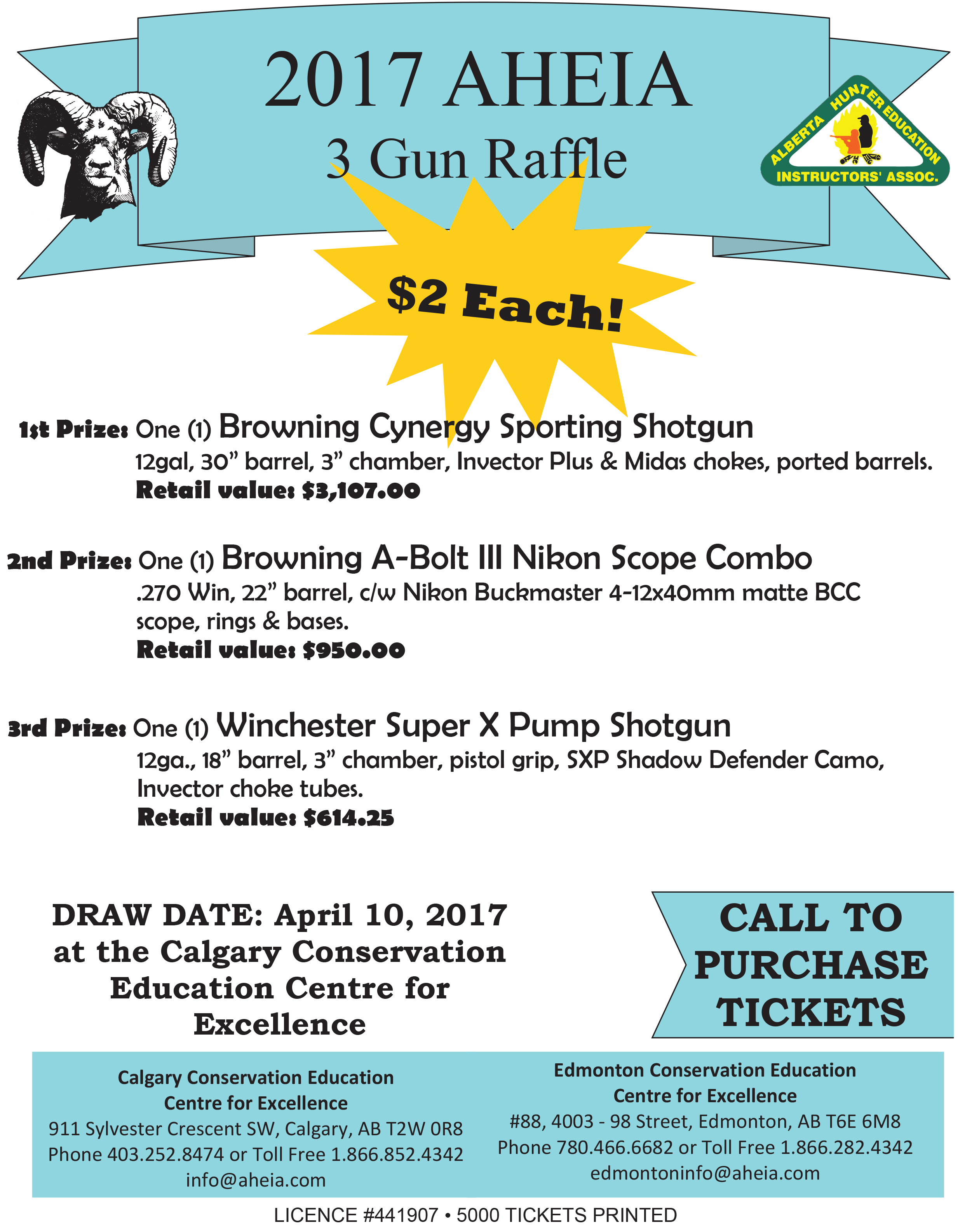 aheia fundraising raffles association of conservation and hunter tickets for these raffles can be purchased over the phone by contacting either