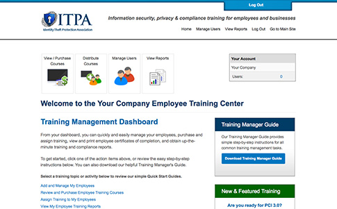 Online employee training center