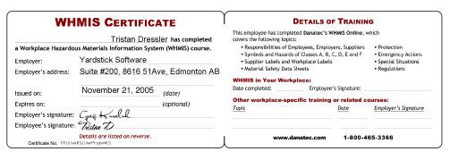 Free Certification: Whmis Certification Online Free