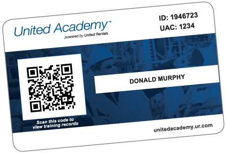 United Academy Wallet Card
